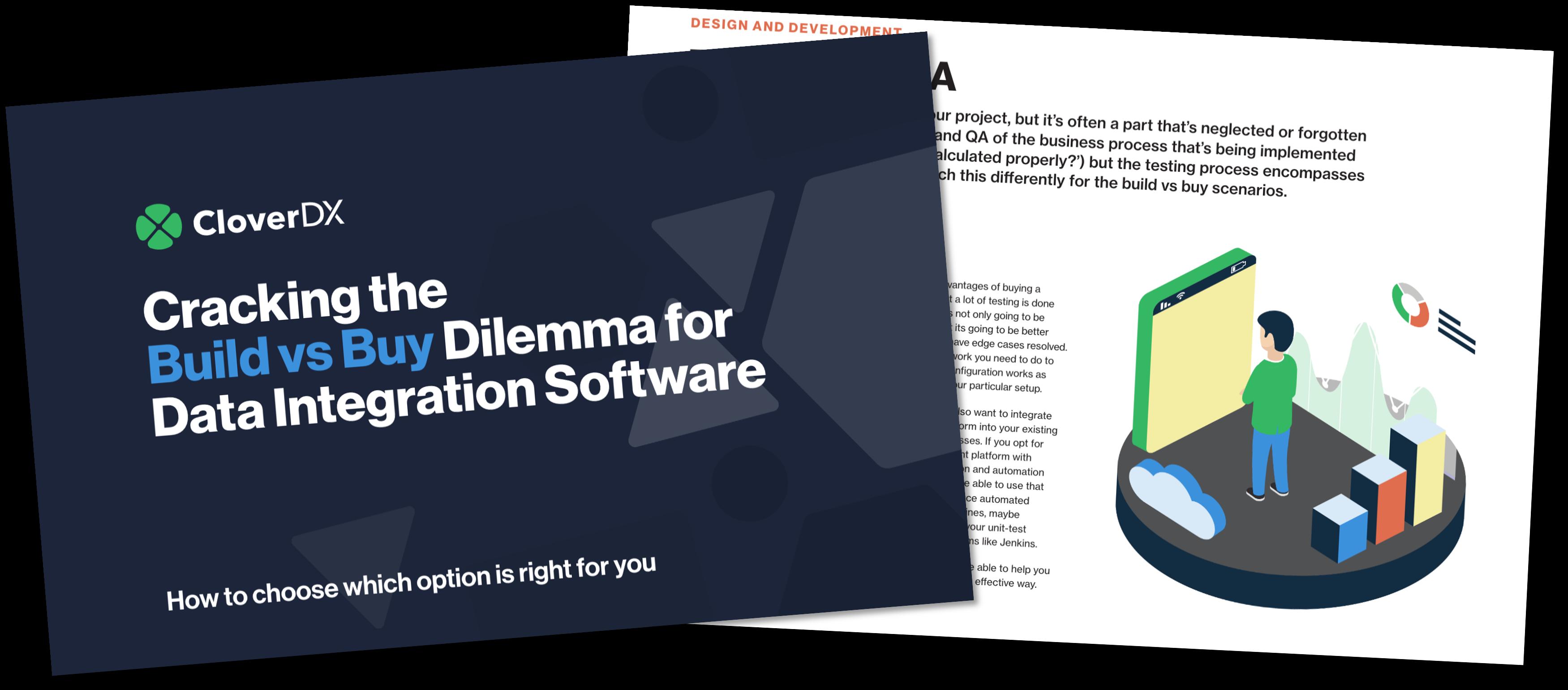 Build vs buy for data integration software
