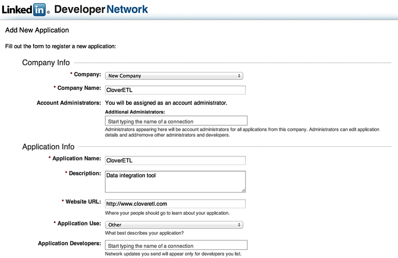 Connecting to LinkedIn API with CloverDX