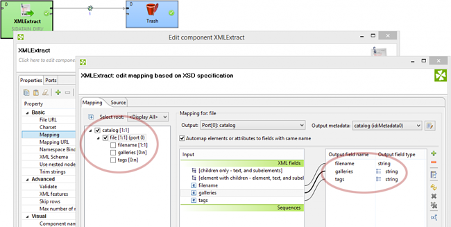 Parsing List Data in XML and JSON with CloverDX 4.1: Map the parsing list in the CloverDX.