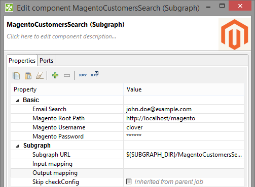 Setting up subgraph for Magento API