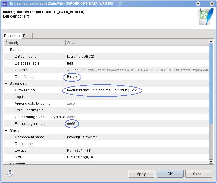Writing to Infobright Database